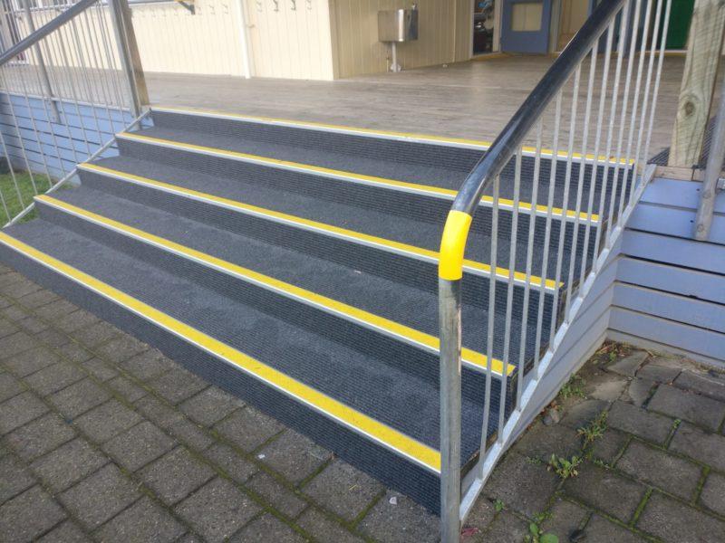 Slim Rib carpet laid on Steps