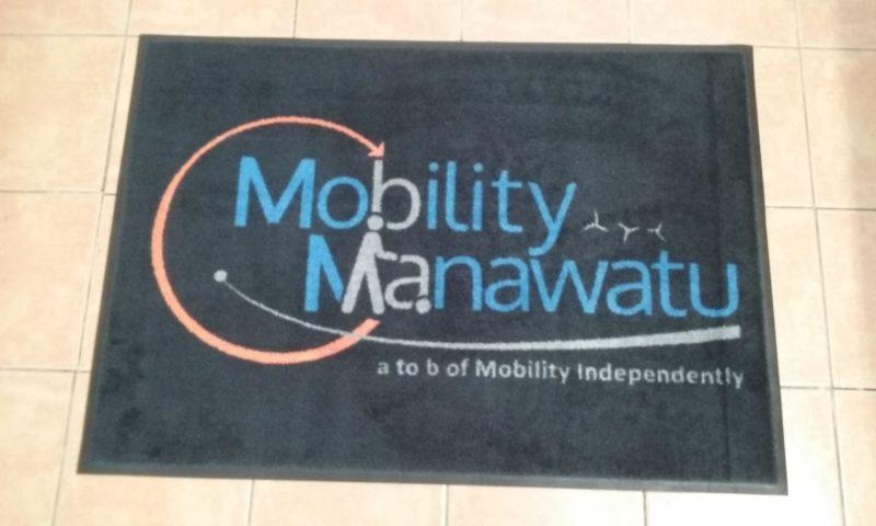 Mobility Manuwatu Logo Mat